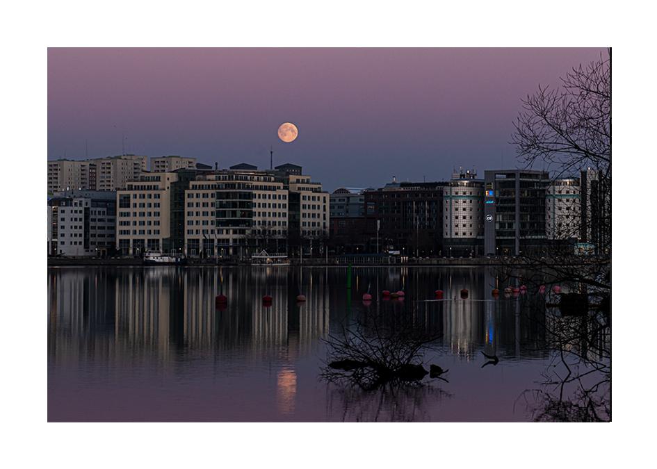 Fullmåne över Marievik