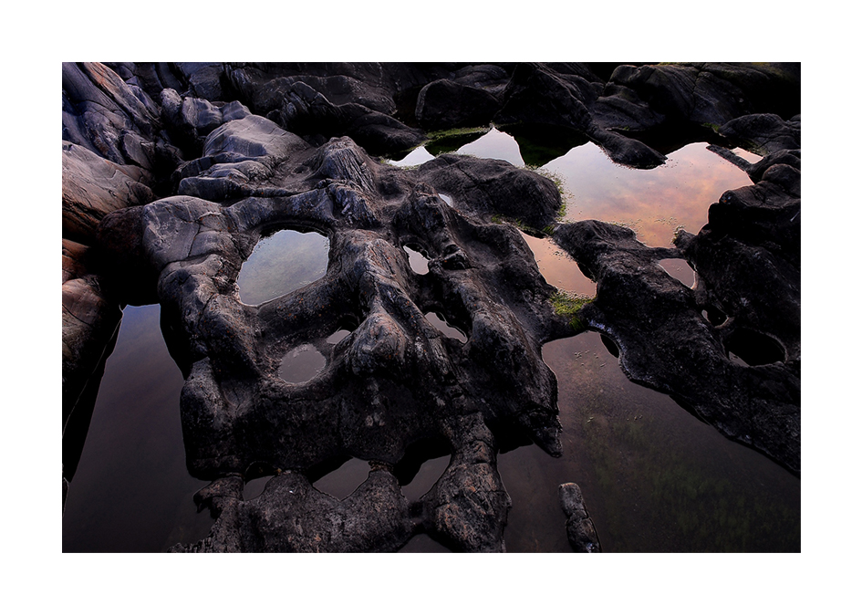 Reflexer mellan stenarna